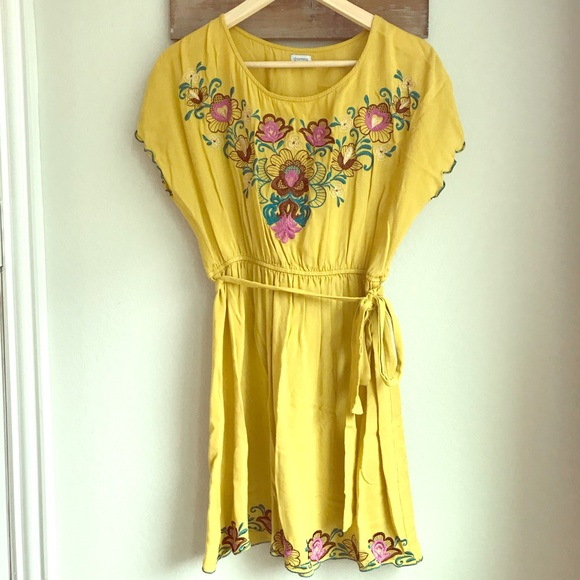 Yellow floral dress charming charlie